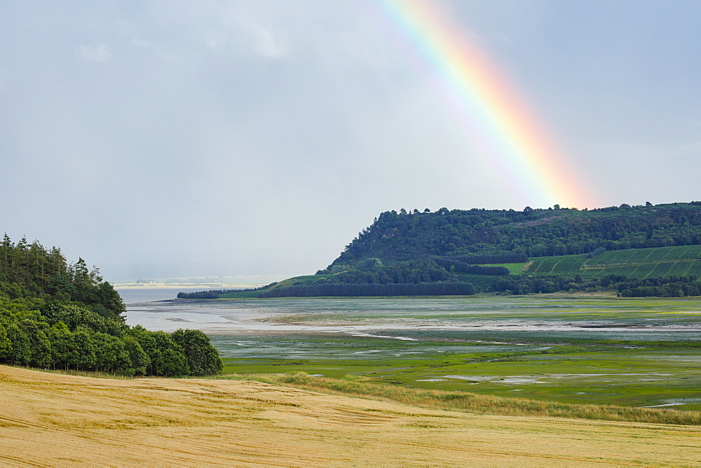 Rainbow over Black Isle, Scotland, United Kingdom, Europe