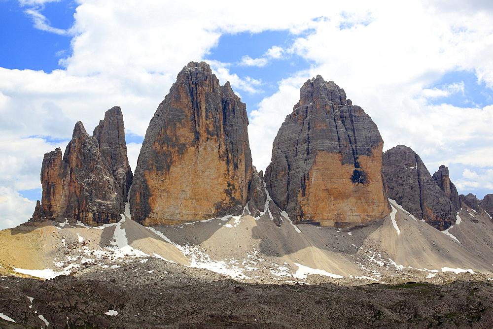 Tre Cime, Three Chimneys, Dolomites, Southtirol, Italy