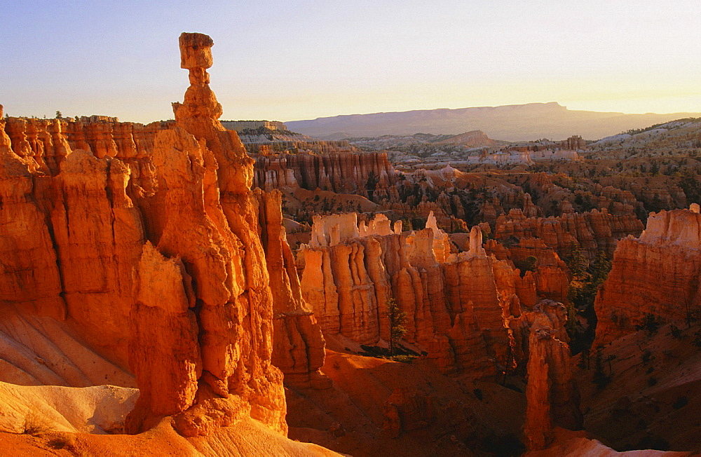 Geology, usa. Utah, bryce canyon, thors hammer, near sunset point