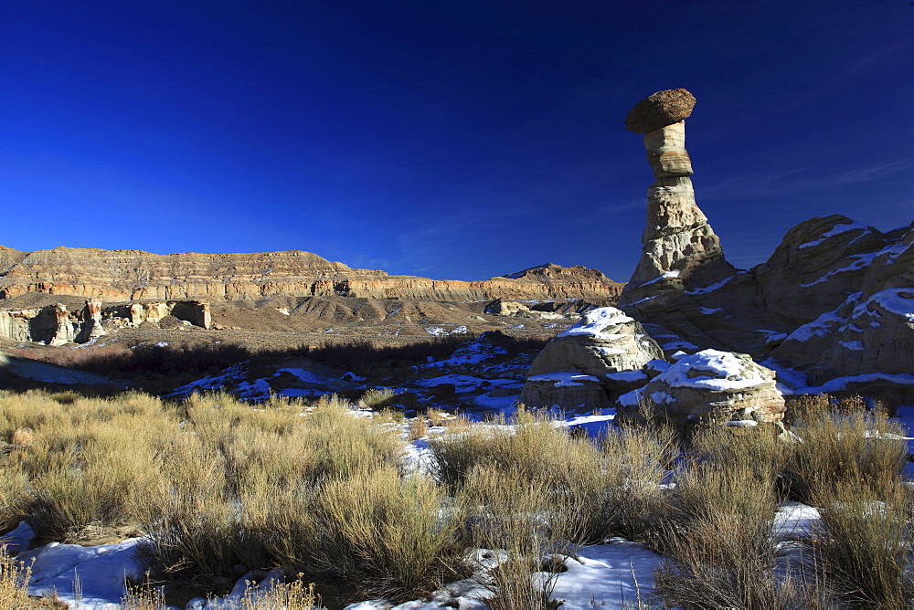 Wahweap hoodoos, white hoodoos, sand stone eroded, grand staircase escalante national monument, utah, usa