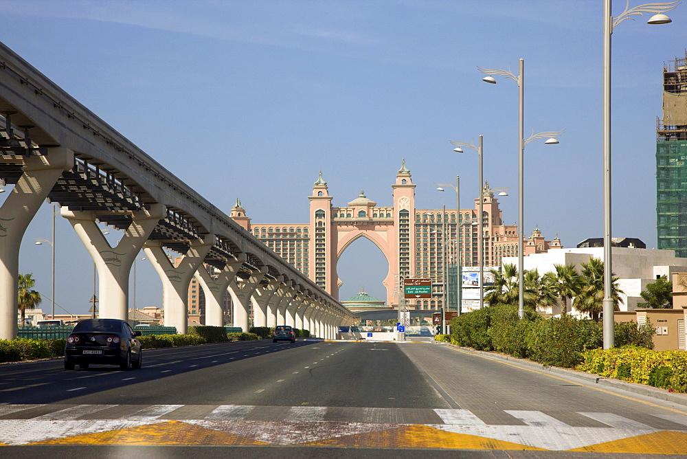 Atlantis hotel on the crest of Palm Jumeirah in Dubai