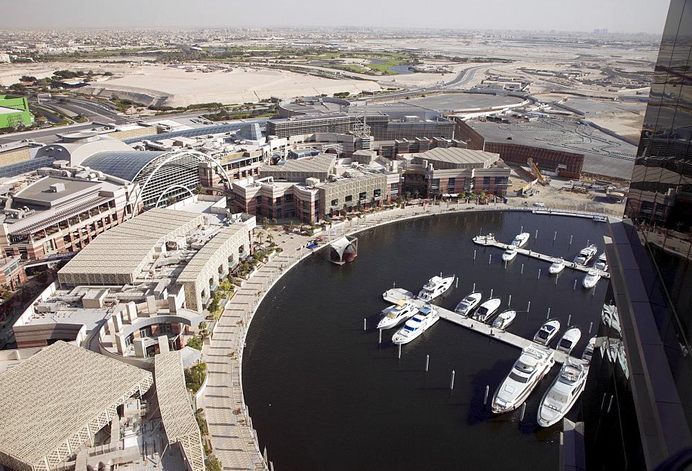 View from InterContinental hotel at Festival city marina in Dubai