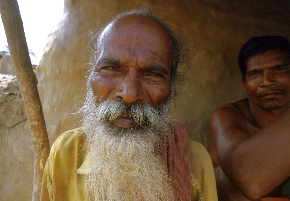 India - faces: men of orissa, victims of recent hurricane 2000
