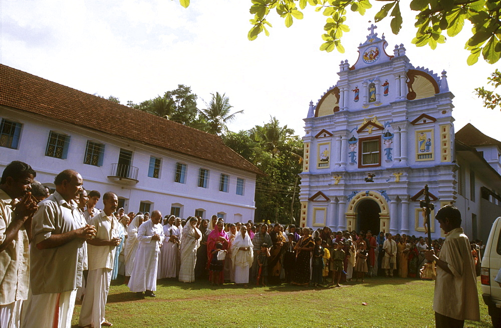 India - religion - christian good friday at st.MARYS Catholic church, valiapally. Kerala
