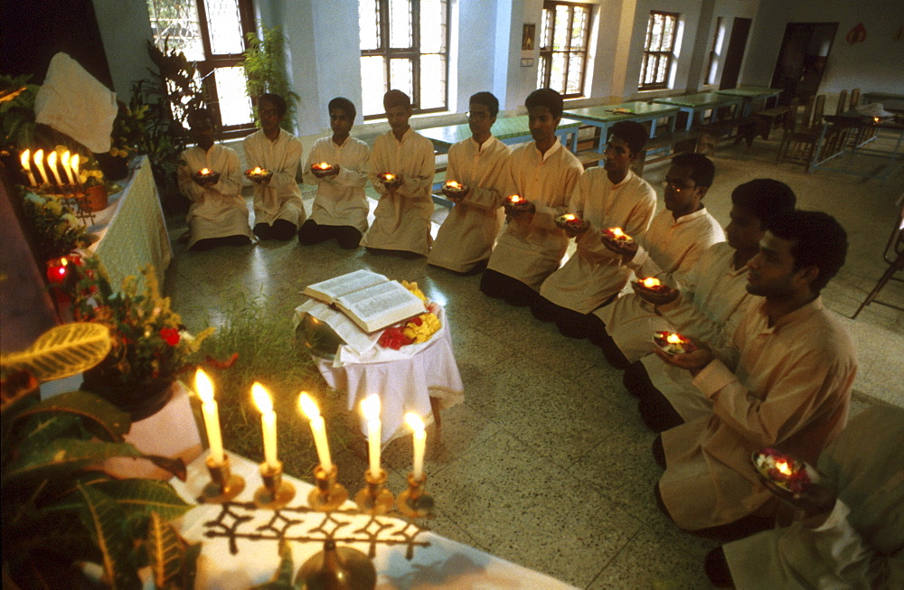 India - religion - christian malabar brothers novitiates at final profession, trichur, kerala