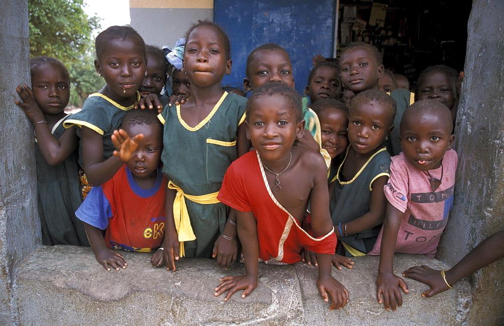 Gambia children of kabekel village