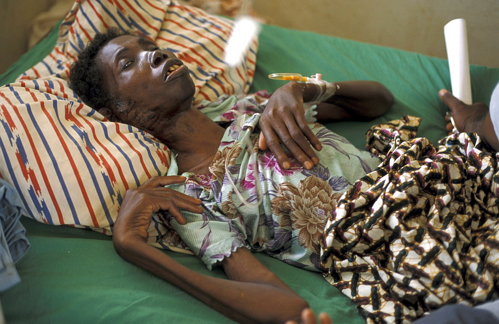 Ghana abiba zakariah (62), a blind woman who is suffering advanced. She is at the sheikhinah clinic in tamale.
