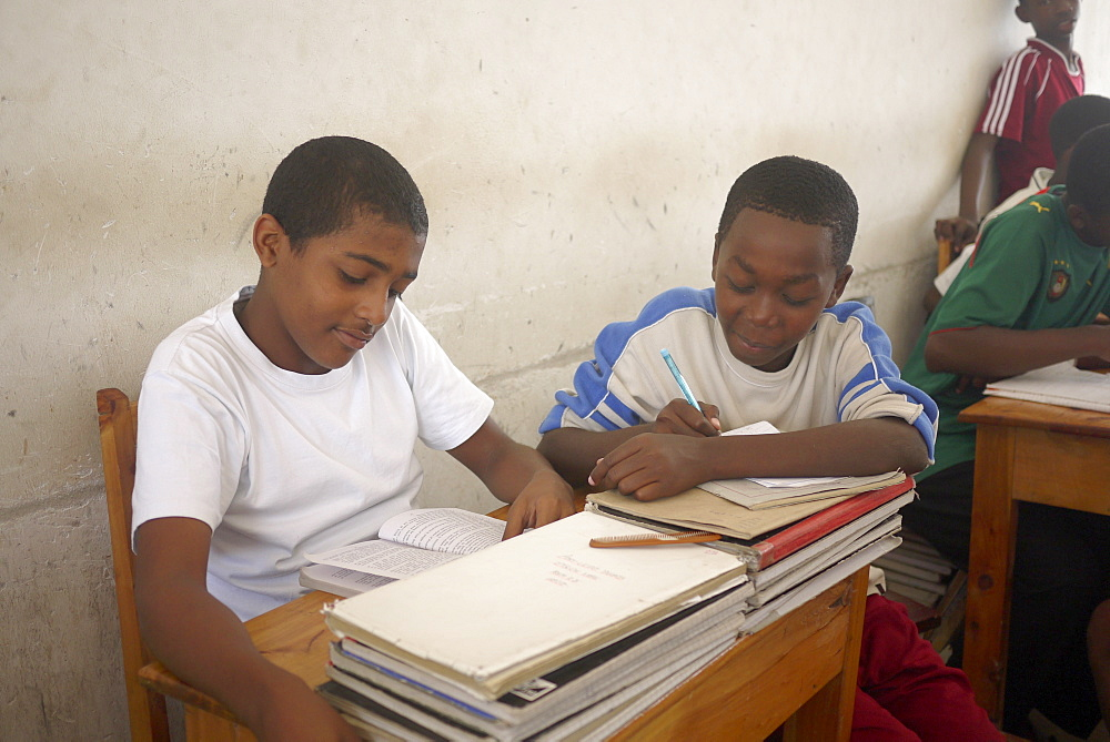 TANZANIA Saint Joseph's Millenium Secondary School, Dar es Salaam. photograph by Sean Sprague