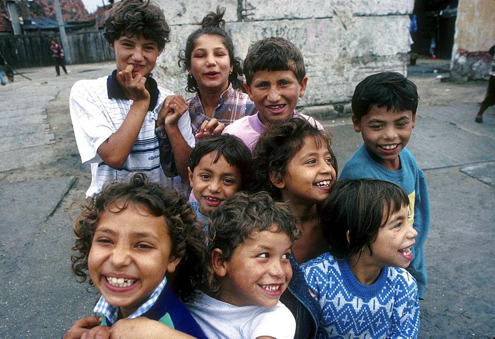 Slovakia gypsy children of senec