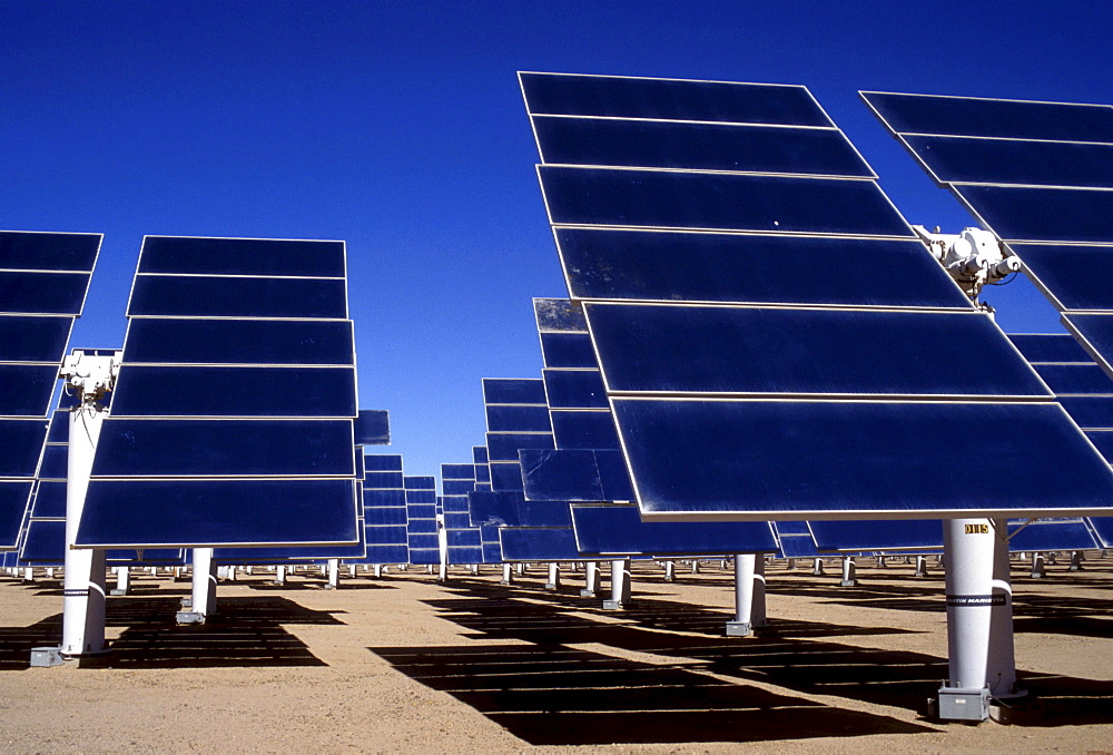 Technology solar electic power station, southern california, usa