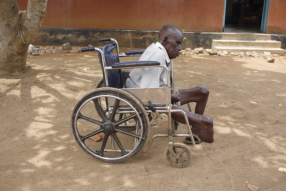 TANZANIA Home of Compassion, for the sick and needy, Kigera village, near Musoma. Man suffering from leprosy. photograph by Sean Sprague