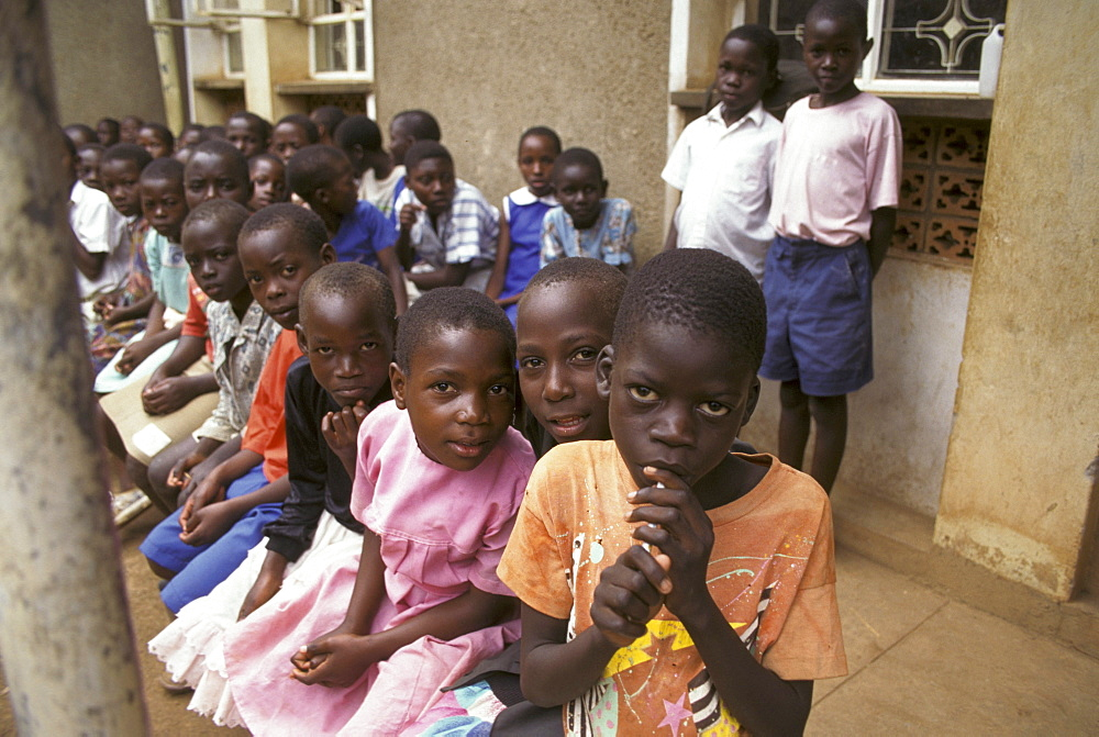 Uganda orphans at komwokya christian community centre, kampala.