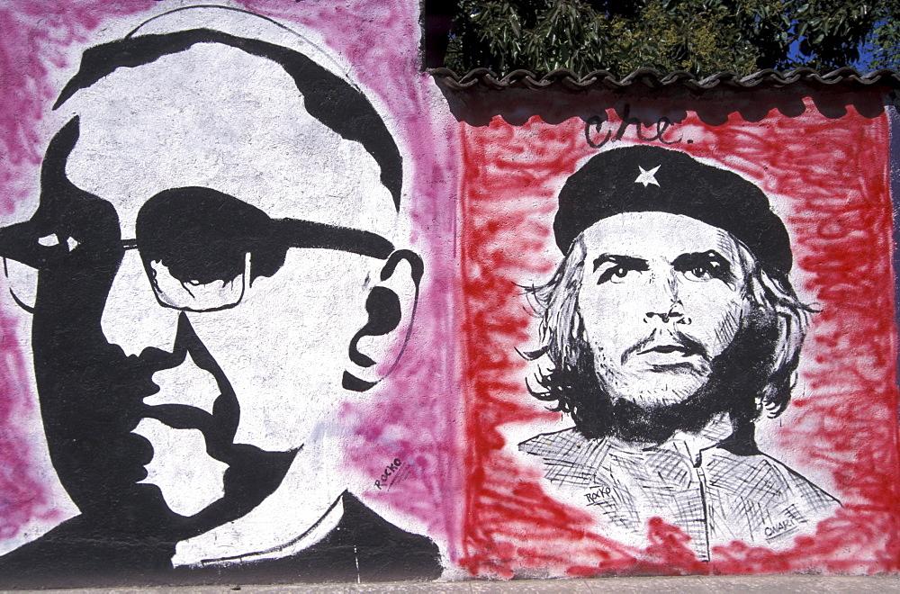 El salvador new martyrs mural (romero & che) san salvador.