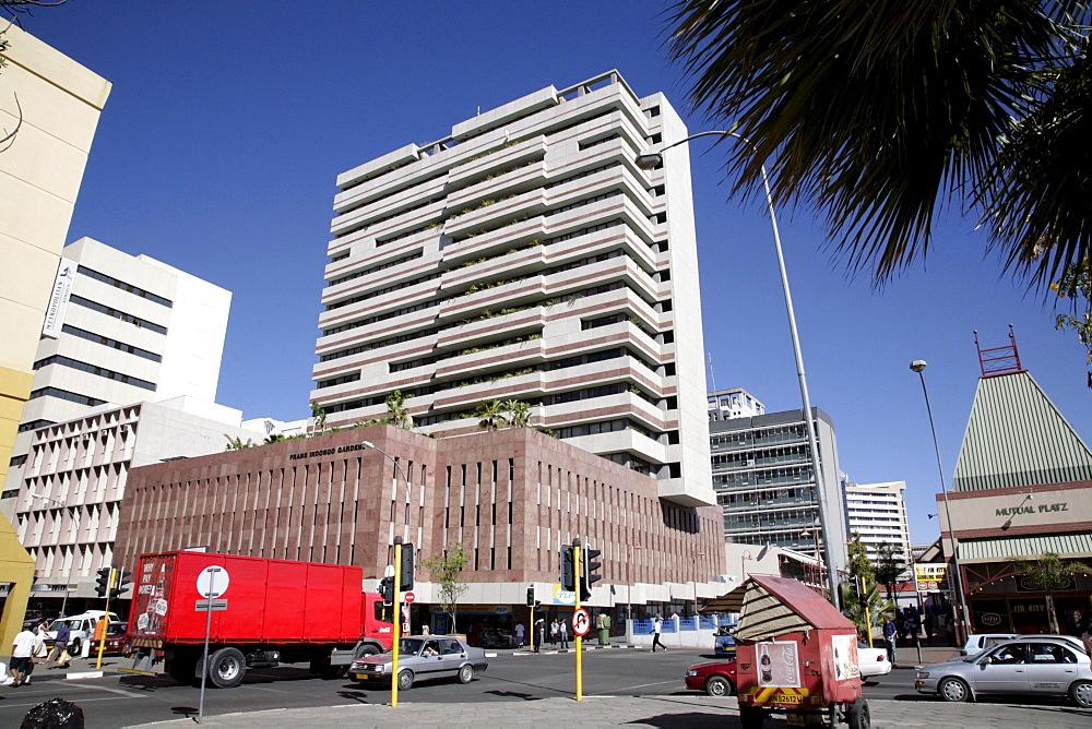 Namibia office buildings, downtown windhoek
