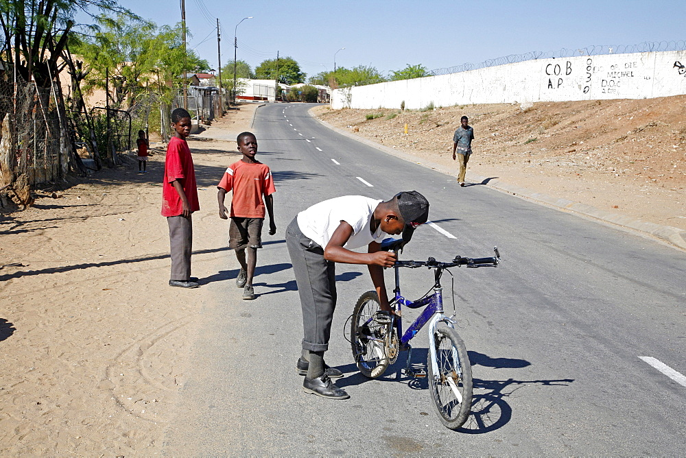 Namibia katatura, a black township of windhoek, dating from apartheid. Windhoe