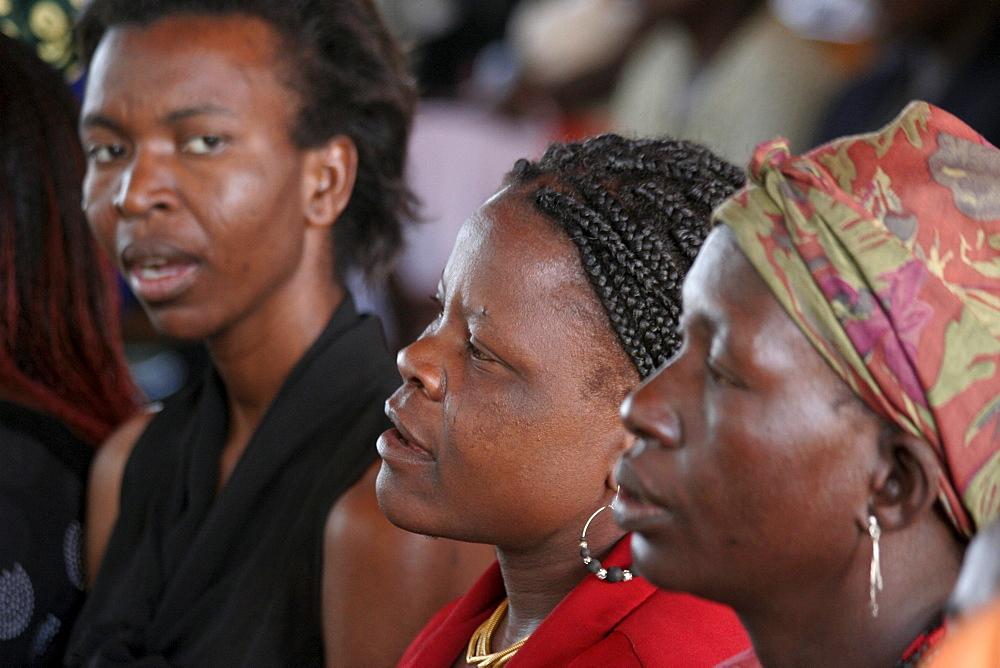 Namibia faces at a catholic church service at wanaheda parish, windhoe