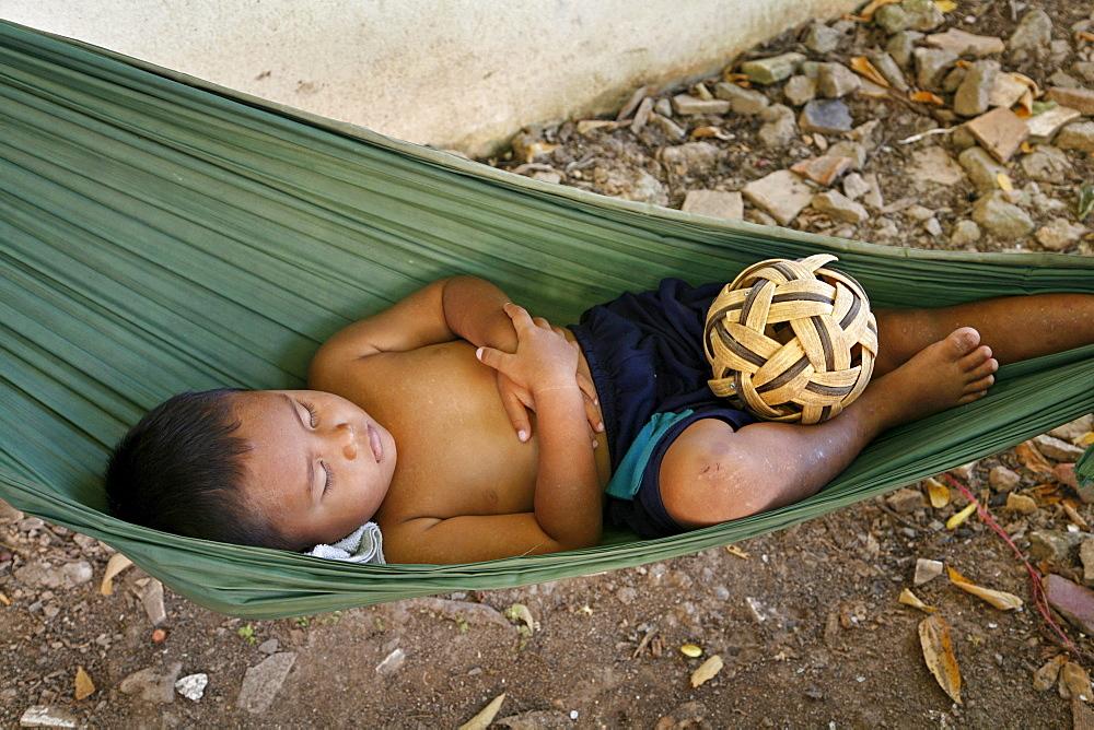 Asleeep in hammock