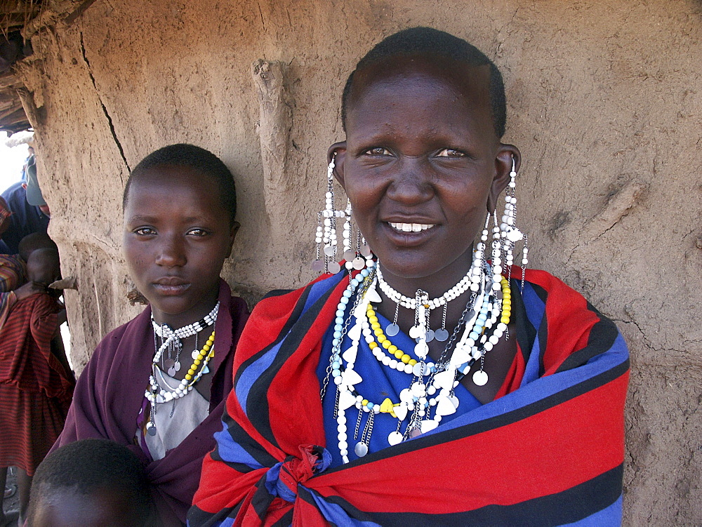 Masai woman, tanzania. Arusha, moita village - 1194-214