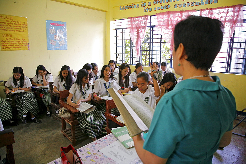 Philippines a high school in quezon city, manila