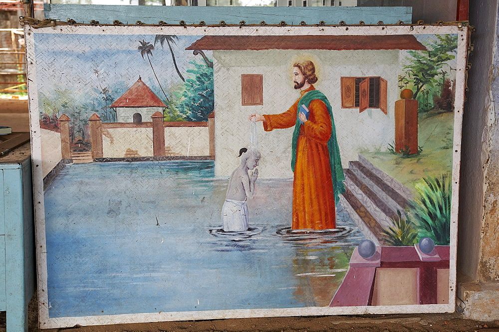 India. Saint thomas baptising a brahmin in the periyar river. Pilgrimage to malayattoor, a hill which saint thomas the apostle is believed to have climbed around 55 ad, leaving his footprints at the top. It is a major pilgrim centre for christians as well as hindus and moslems, who believe the trip can cure them of physical and mental disease. Kerala