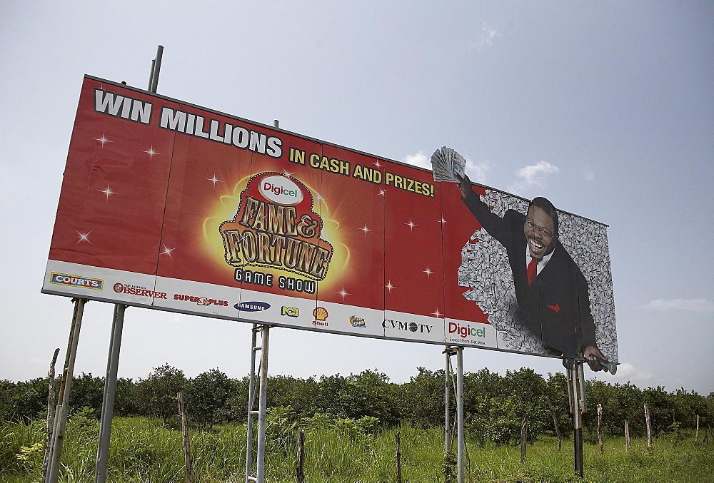 Jamaica. Gambling advertisement, montego bay