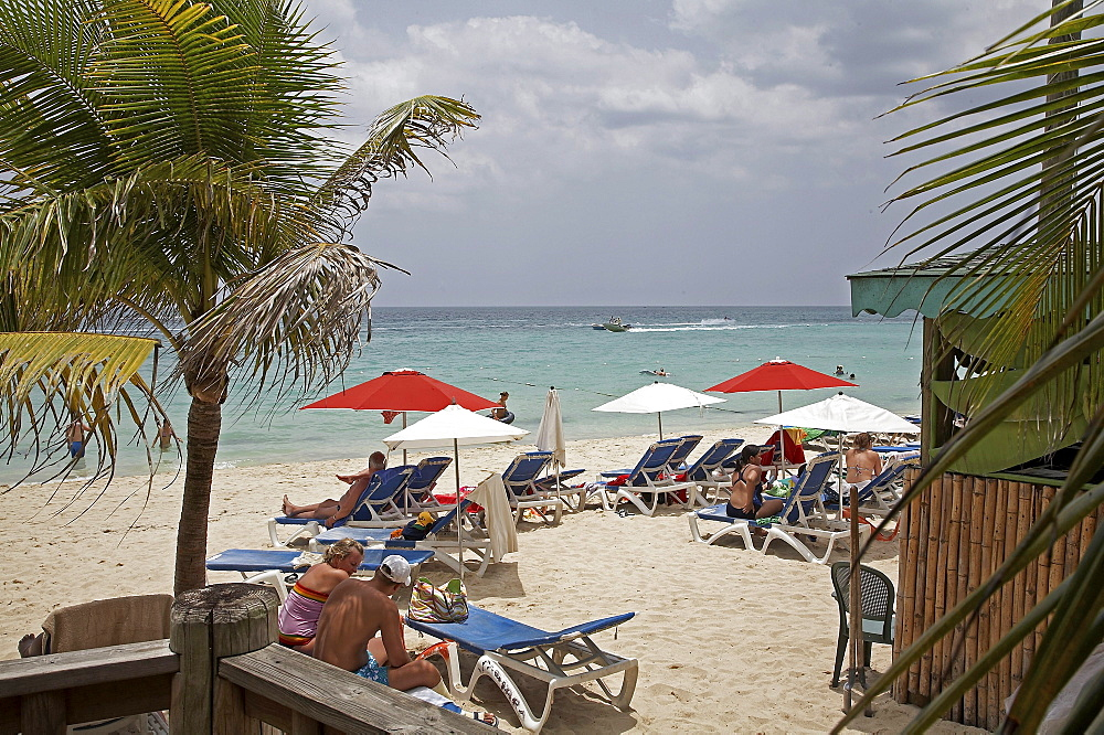 Jamaica. The beach at montego bay