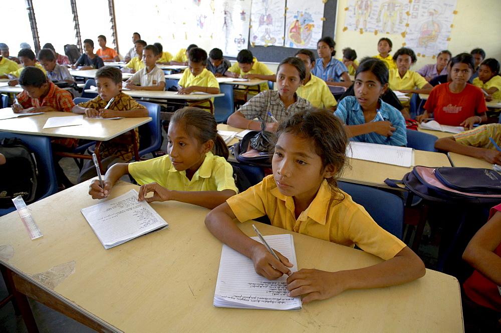 East timor. Classroom primary school at usi takeno, oecussi-ambeno