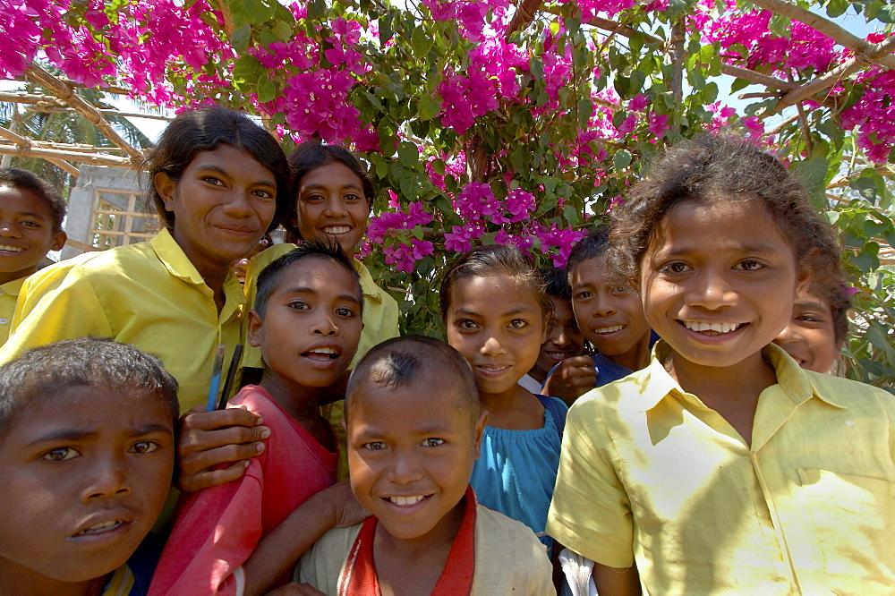 East timor. Children, primary school at usi takeno, oecussi-ambeno