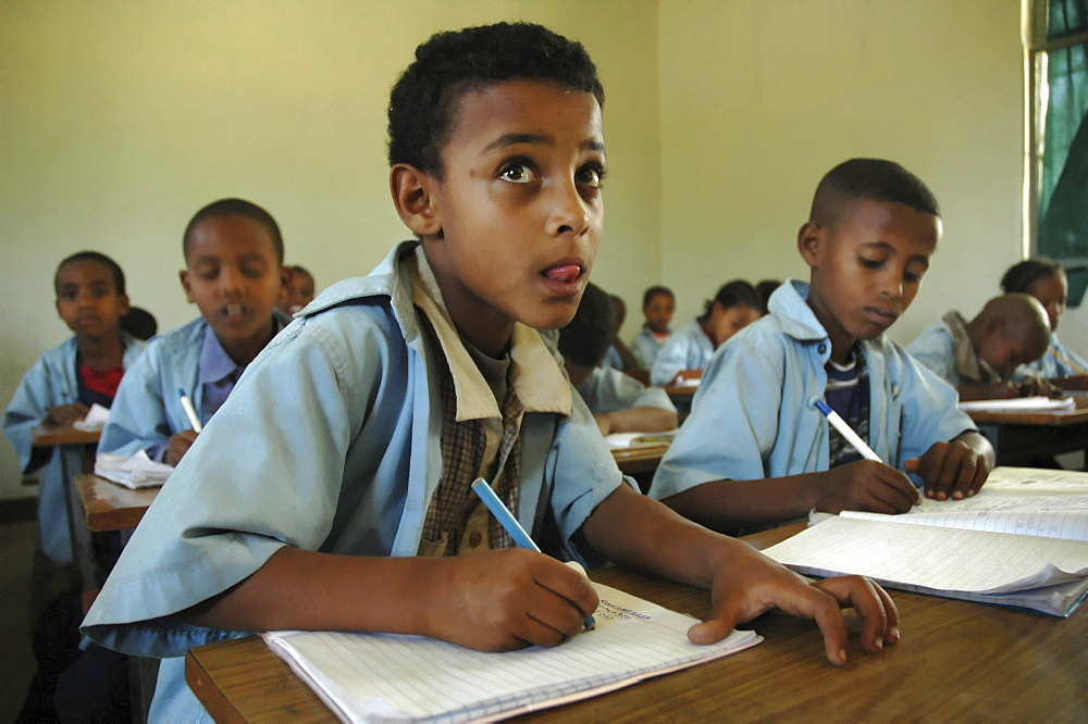 Education, ethiopia. Elementary school at meki