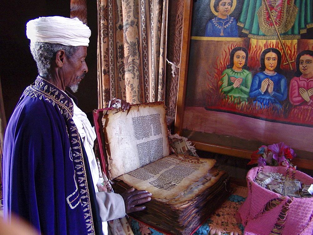 Religion, ethiopia. Bet gabriel-rafael church, lalibela