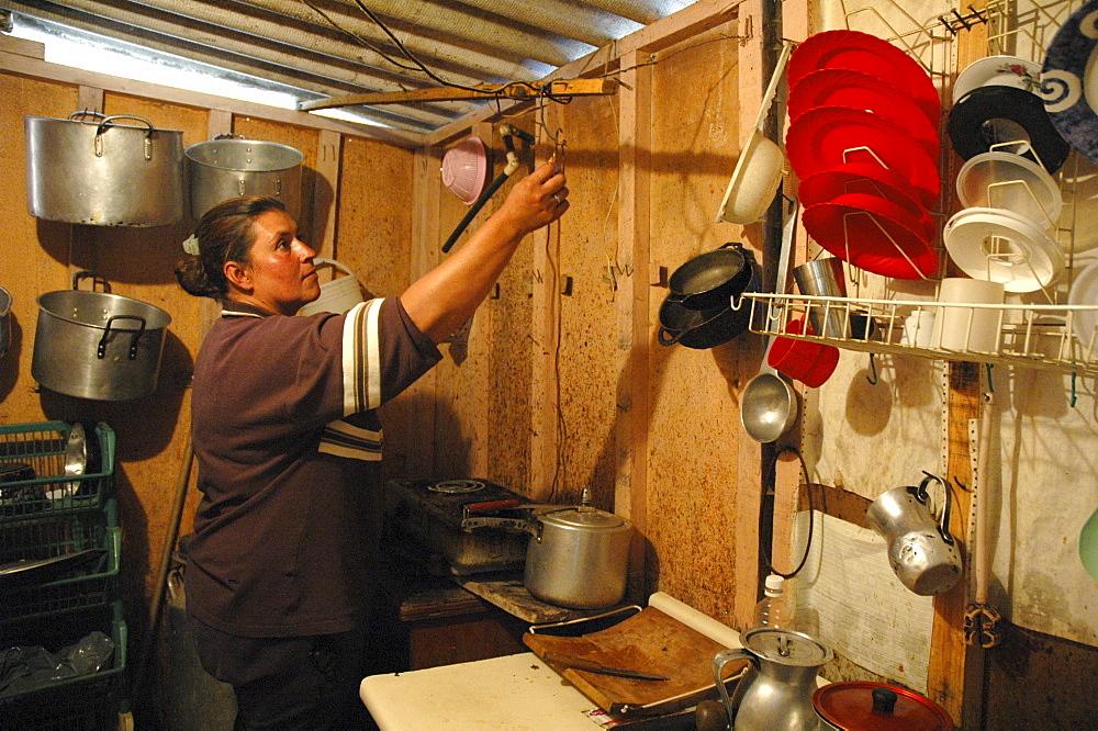 Colombia slum dweller, altos de cazuca, bogota