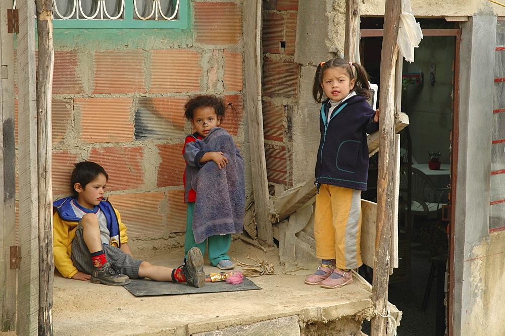 Colombia children of of altos de cazuca, bogota