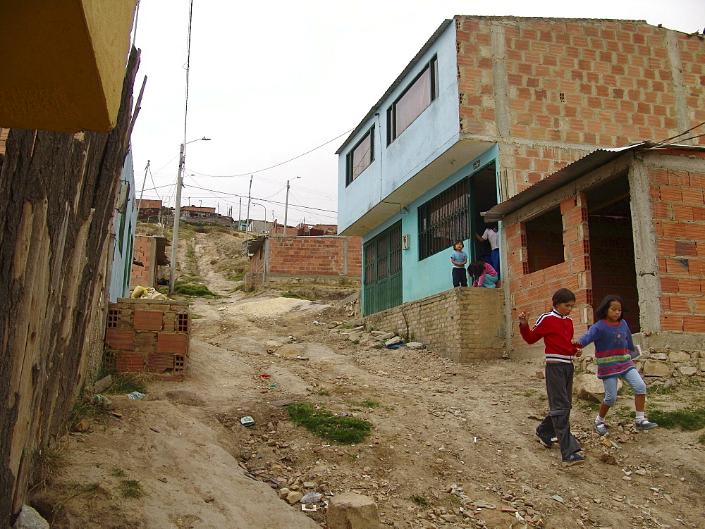 Colombia in the slums of los altos de cazuca, bogota