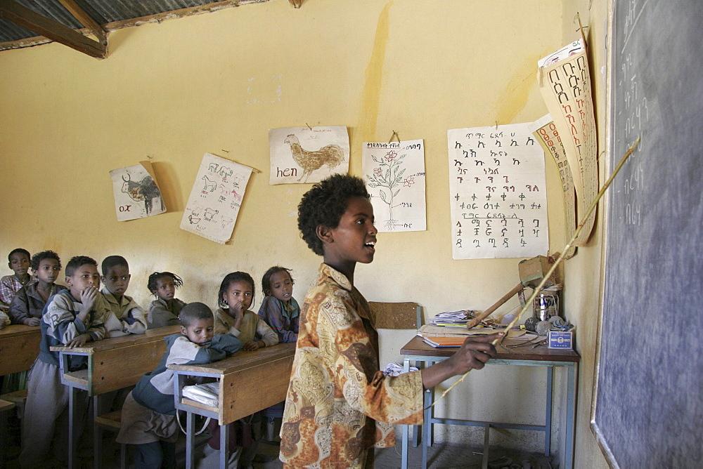 Ethiopia catholic elementary school at wutafa, tigray