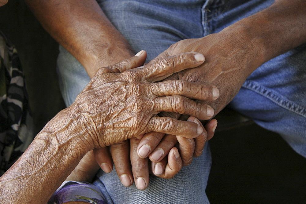 Venezuela hands, el castano, a remote village in the hills near barquisimeto, lara state