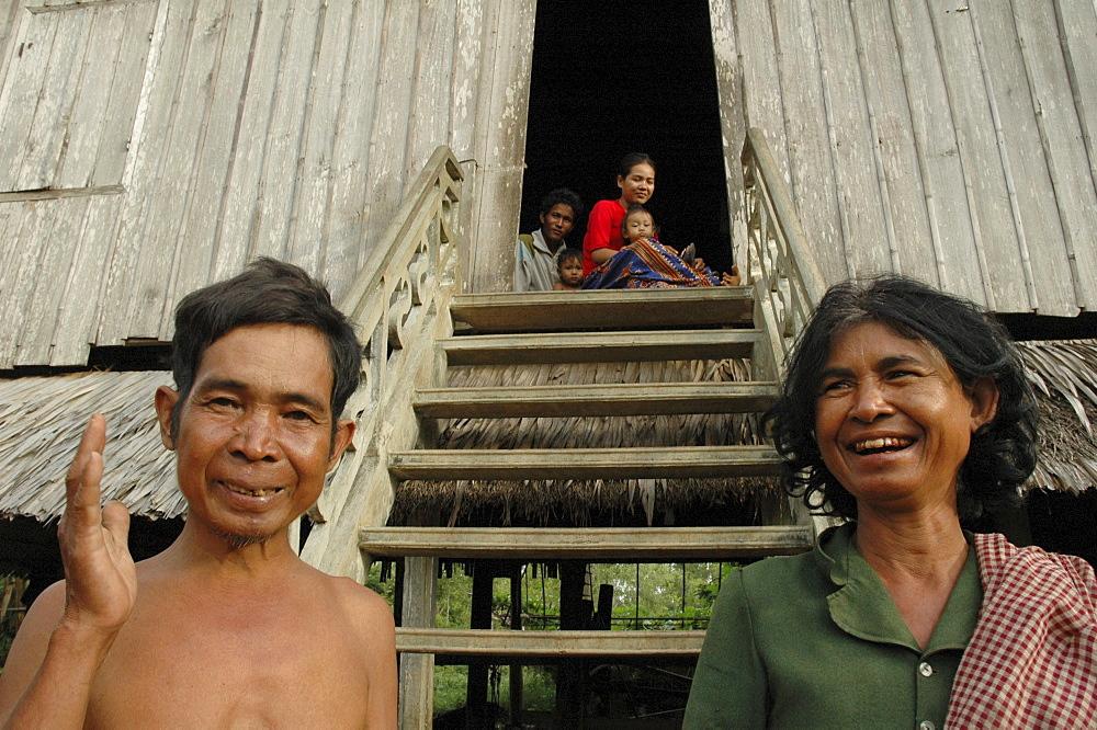 Cambodia family of kampong cham