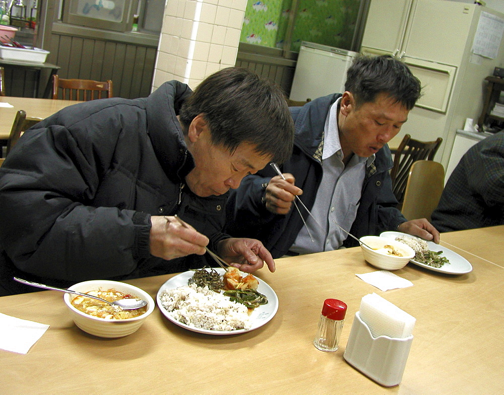Korea - soup kitchen for homeless people, seoul
