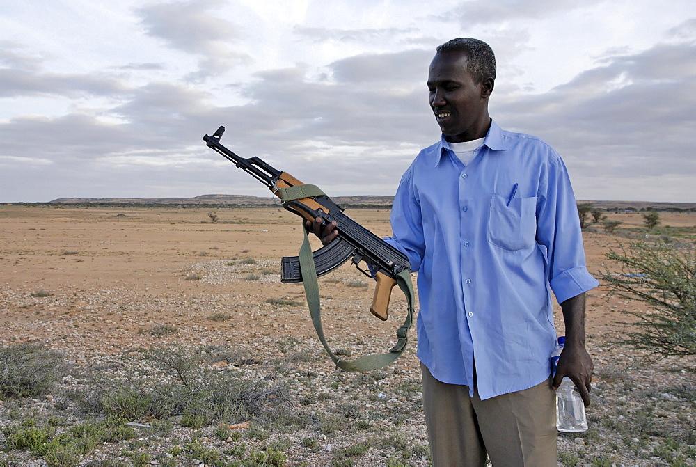 The price of a brand new kalachnitkov ak47 in somalia in the 300 $, there is 2 million inhabitant in modagishiu for 1 million ak47