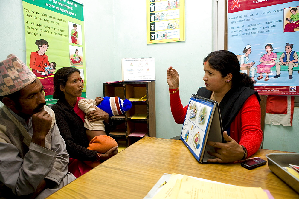Community and Home Based Care (CHBC) teams also provide comprehensive care and support services including Prevention of Mother to Child Tansmission (PMTCT). Dhangadi, Nepal