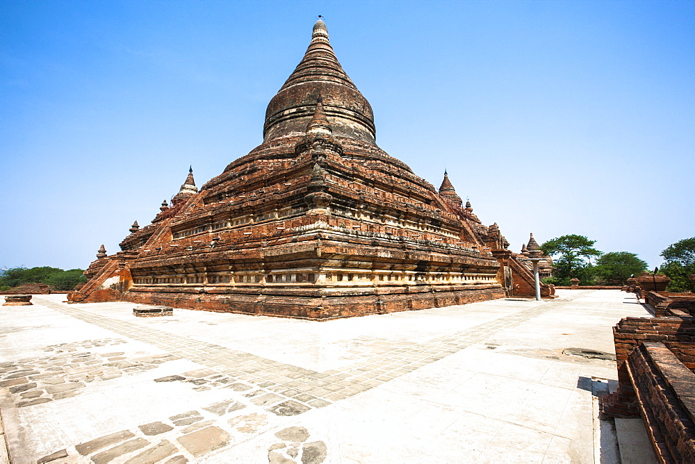 Mingalazedi Pagoda, a Buddhist stupa located in Bagan (Pagan), Myanmar (Burma), Asia
