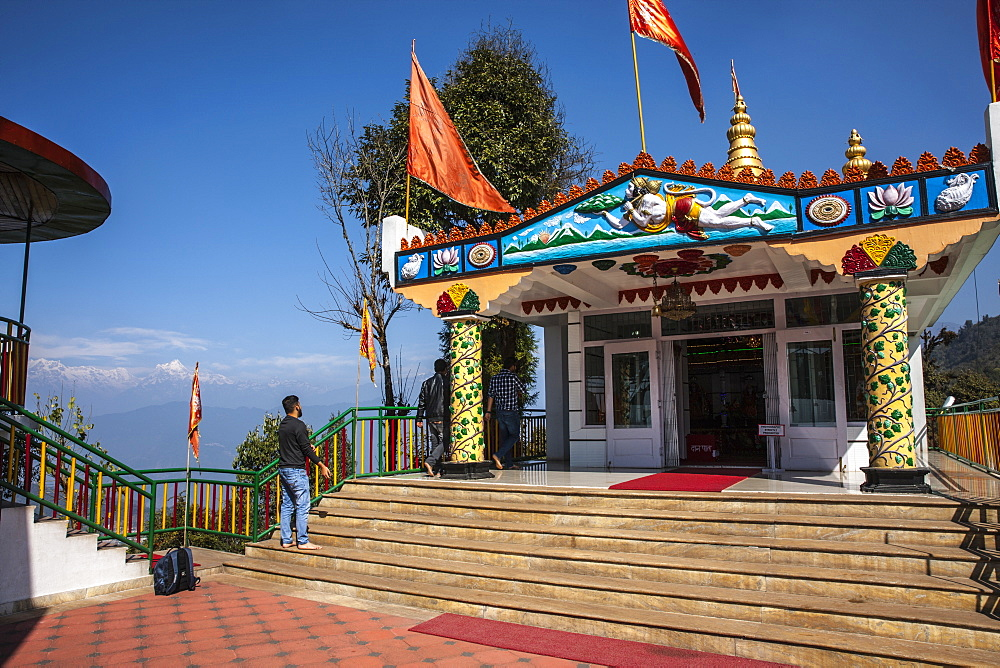 Hanuman Tok, a highly revered and holy temple dedicated to Lord Hanuma (monkey god), located at an altitude of 7200 ft, Sikkim, India, Asia - 1196-290