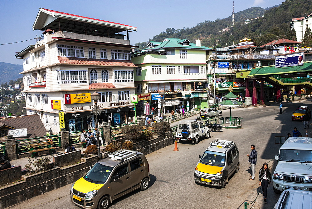 Gangtok downtown, Sikkim, India, Asia - 1196-296