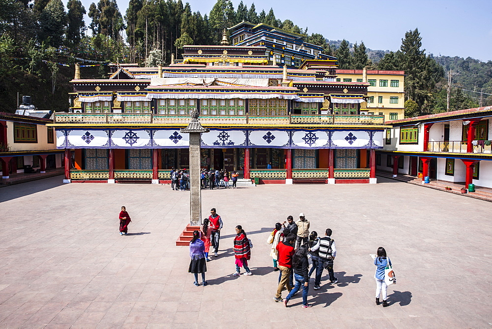 Rumtek Monastery, also called the Dharmachakra Centre, founded by Wangchuk Dorje, 9th Karmapa Lama. Sikkim, India.