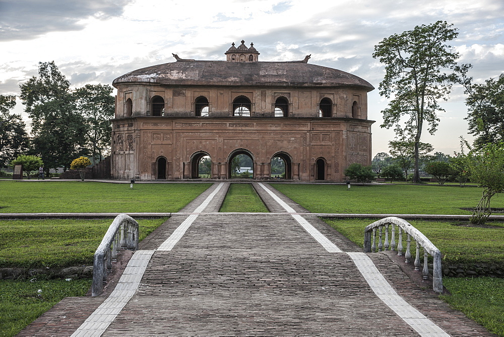 The Ronghar (Rang Ghar), the royal sports pavilion of Ahom built in 1746, Sivasagar (Sibsagar), Assam, India, Asia - 1196-311