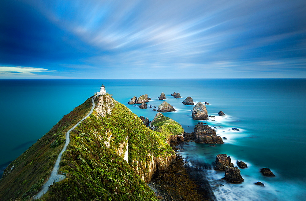 Nugget Point Lighthouse, Nugget Point, Otago, South Island, New Zealand, Pacific - 1199-10