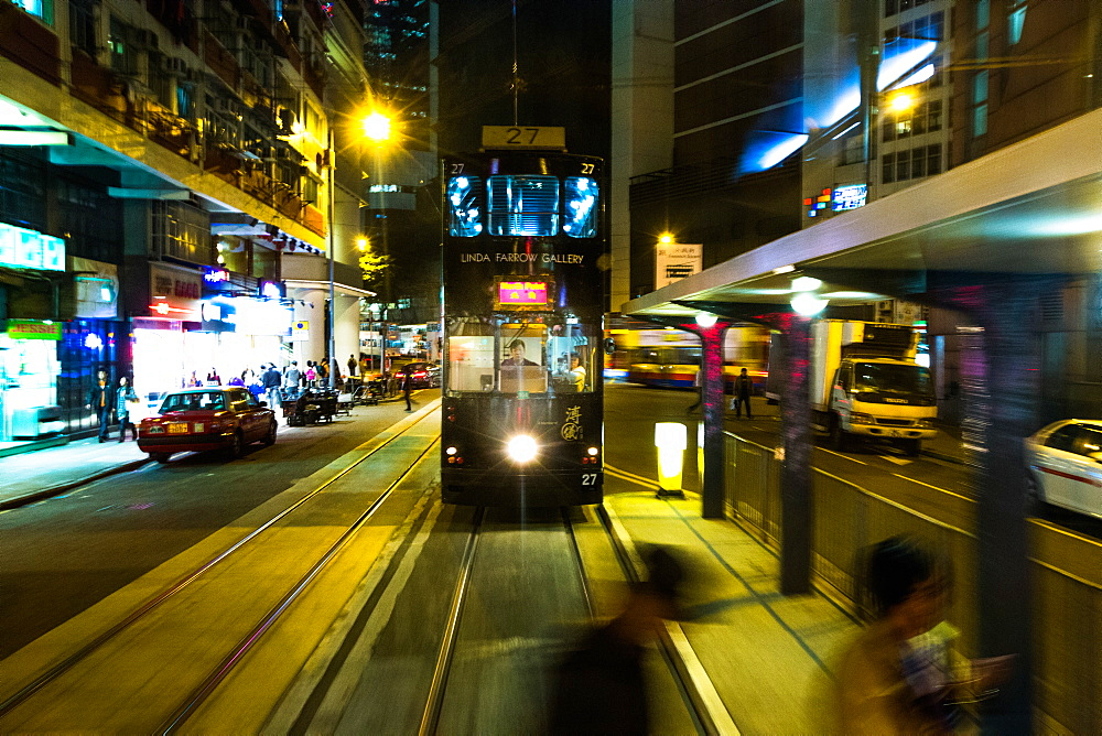 Hong Kong Tram, Central, Hong Kong, China, Asia