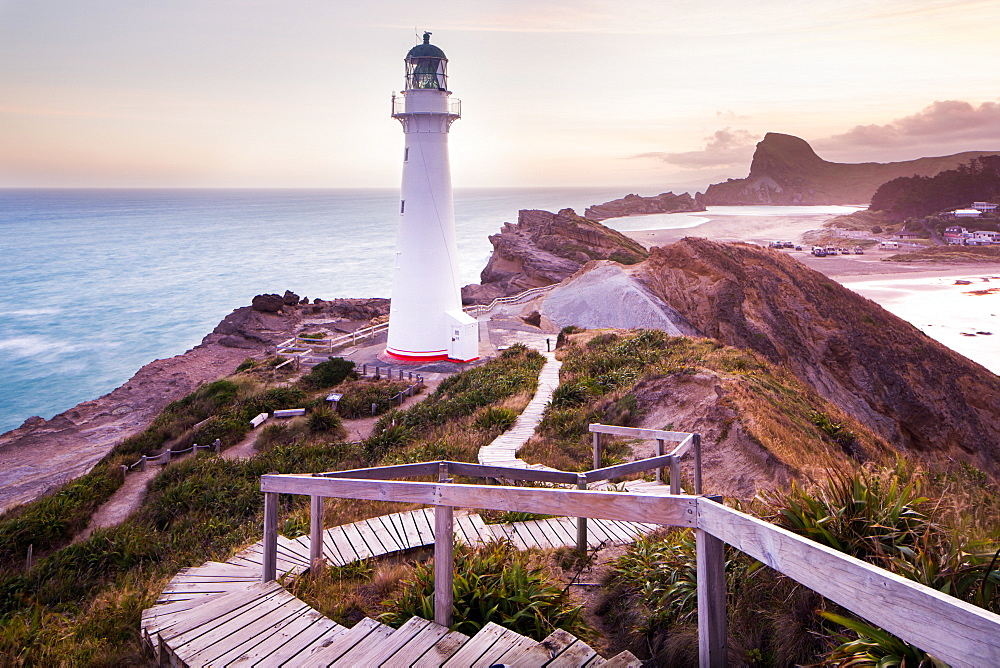 Castlepoint Lighthouse, Castlepoint, Wellington Region, North Island, New Zeland, Pacific - 1199-168