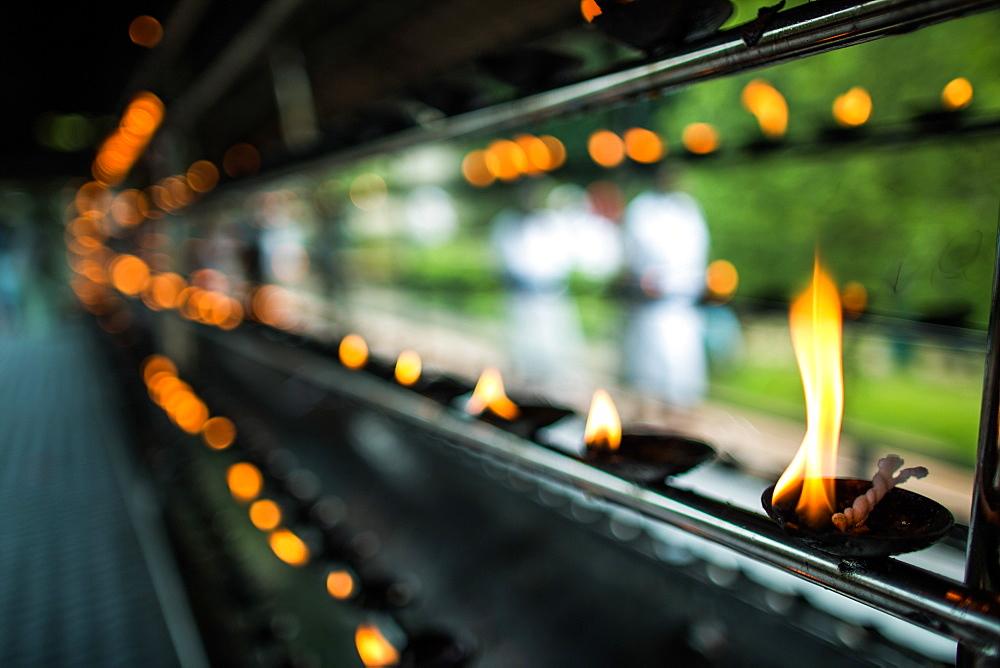 Candles, Kandy, Sri Lanka, Asia