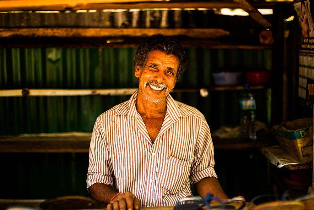 Market seller, Sri Lanka, Asia