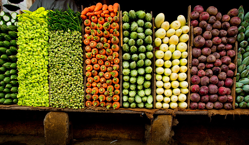 Vegetables for sale, Sri Lanka, Asia
